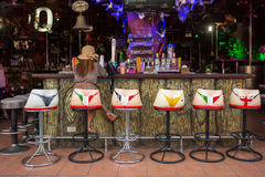 Typical Bar on Bangla Road in Patong on Phuket Stock Images