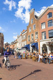 Typical bars with medieval architecture in Haarlem Royalty Free Stock Photo