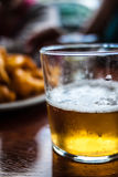 Typical basque appetizer in plate. With a beer Royalty Free Stock Images