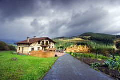 Typical basque country architecture in sagasta Royalty Free Stock Images