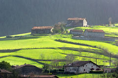 Typical basque country houses Stock Photos