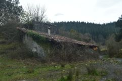 Typical Basque House Abandoned In The Natural Park Of Gorbeia. Architecture Nature Landscapes. royalty free stock image