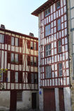 Typical Basque houses in the city of Bayonne Royalty Free Stock Image