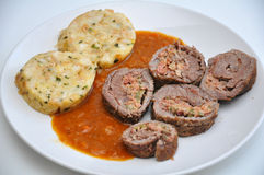 Typical Bavarian beef roll Royalty Free Stock Images