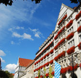 Typical Bavarian facade in Munich Royalty Free Stock Images