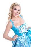 Typical Bavarian hot woman Royalty Free Stock Photo