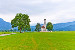 Typical bavarian  landscape with chapel Stock Image