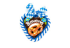 Typical bavarian oktoberfest heart with clipping Stock Image