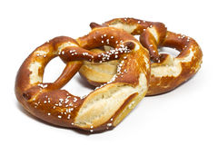 Typical bavarian pretzels Stock Image