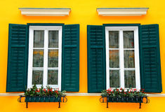 Typical bavarian windows Stock Images