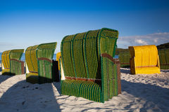 Typical beach chairs  on the beach in Germany Royalty Free Stock Image