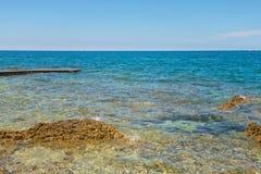 Typical beach in Istria, Croatia Stock Photos