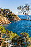 Typical beautiful Costa Brava coastline, Catalonia Stock Image