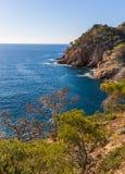 Typical beautiful Costa Brava coastline, Catalonia Royalty Free Stock Photography