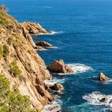 Typical beautiful Costa Brava coastline, Catalonia Royalty Free Stock Image