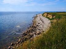 Typical Beautiful Danish Coastline Landscape In The Summer Stock Images
