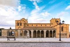 The Basilica of Saint Vincent is a Romanesque church located in Avila, Spain, the largest and most important city after the Cathed royalty free stock photos