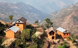 Typical Beautiful village in Nepal Royalty Free Stock Photo