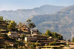 Typical Beautiful village in Nepal Royalty Free Stock Photos