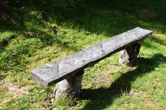 Typical bench in Dolomiti mountains Royalty Free Stock Images