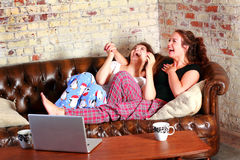 Typical BFF Slumber Party Royalty Free Stock Image