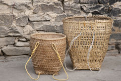 Typical Bhutan baskets Stock Image