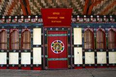 Typical Bhutanese door and windows Stock Photography