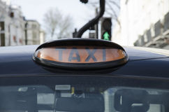 London taxi Stock Image