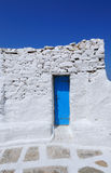 Typical blue white houses at mykonos , cyclades , Greece Royalty Free Stock Image