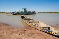 Typical boat, Djenné, Mali, Africa. Royalty Free Stock Photo