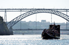 Typical boat on Douro river Stock Photo