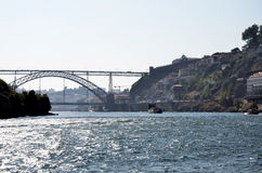 Typical boat sailing on Douro river Stock Photos