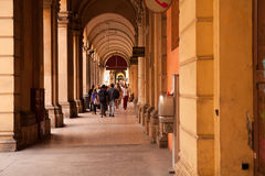 Typical Bologna Portico Royalty Free Stock Photography
