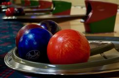 Typical Bowling Alley, USA Stock Image