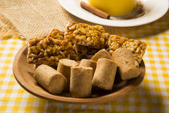 Typical Brazilian junina party sweets. Background Royalty Free Stock Photo