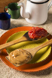 Typical Brazilian specialty: guava paste with white cheese, loca Royalty Free Stock Image