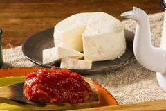 Typical Brazilian specialty: guava paste with white cheese, loca Royalty Free Stock Photos