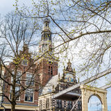 Bridge in Alkmaar, the Netherlands. Typical bridge in Alkmaar, the Netherlands royalty free stock photos