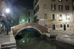 Typical bridge in the heart of venice Stock Photos