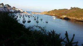 Typical britannic harbour Stock Photo