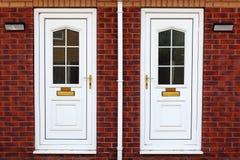 Typical British door. Facades of terraced houses Stock Photo