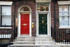 Typical british doors Royalty Free Stock Photo