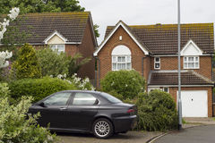 Typical British houses Royalty Free Stock Photography