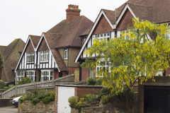 Typical British houses in Hastings Royalty Free Stock Photo