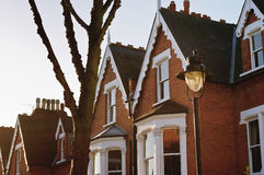 Typical British houses. In London Royalty Free Stock Image
