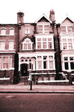 Typical British Houses. In monochrome Royalty Free Stock Image