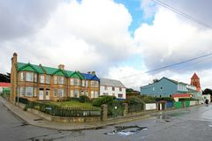 Typical british town houses in Port Stanley, Falkland Islands. Islas Malvinas Stock Images