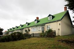 Typical british town houses in Port Stanley, Falkland Islands Royalty Free Stock Image
