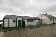 Typical british town houses in Port Stanley, Falkland Islands. Islas Malvinas Royalty Free Stock Photography