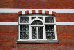 Typical British Window on a red brick wall Stock Photography